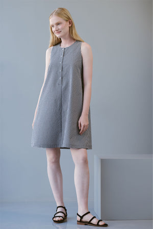 SHORT A DRESS - CHECKERED