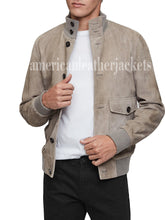 SUEDE TRENDY MEN BOMBER JACKET