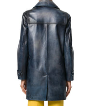 Women Trendy Leather Coat