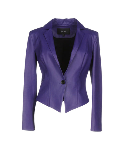 CLASSIC CORPORATE STYLE LEATHER BLAZER FOR WOMEN