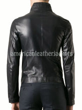 Christian Grey Fifty Shades of Grey Biker Men Leather Jacket