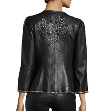Designer Studded Leather Jacket For Women