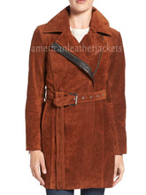 Classic Style Suede Leather Coat