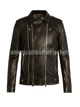Trendy Men Leather Designer Motorcycle Jacket