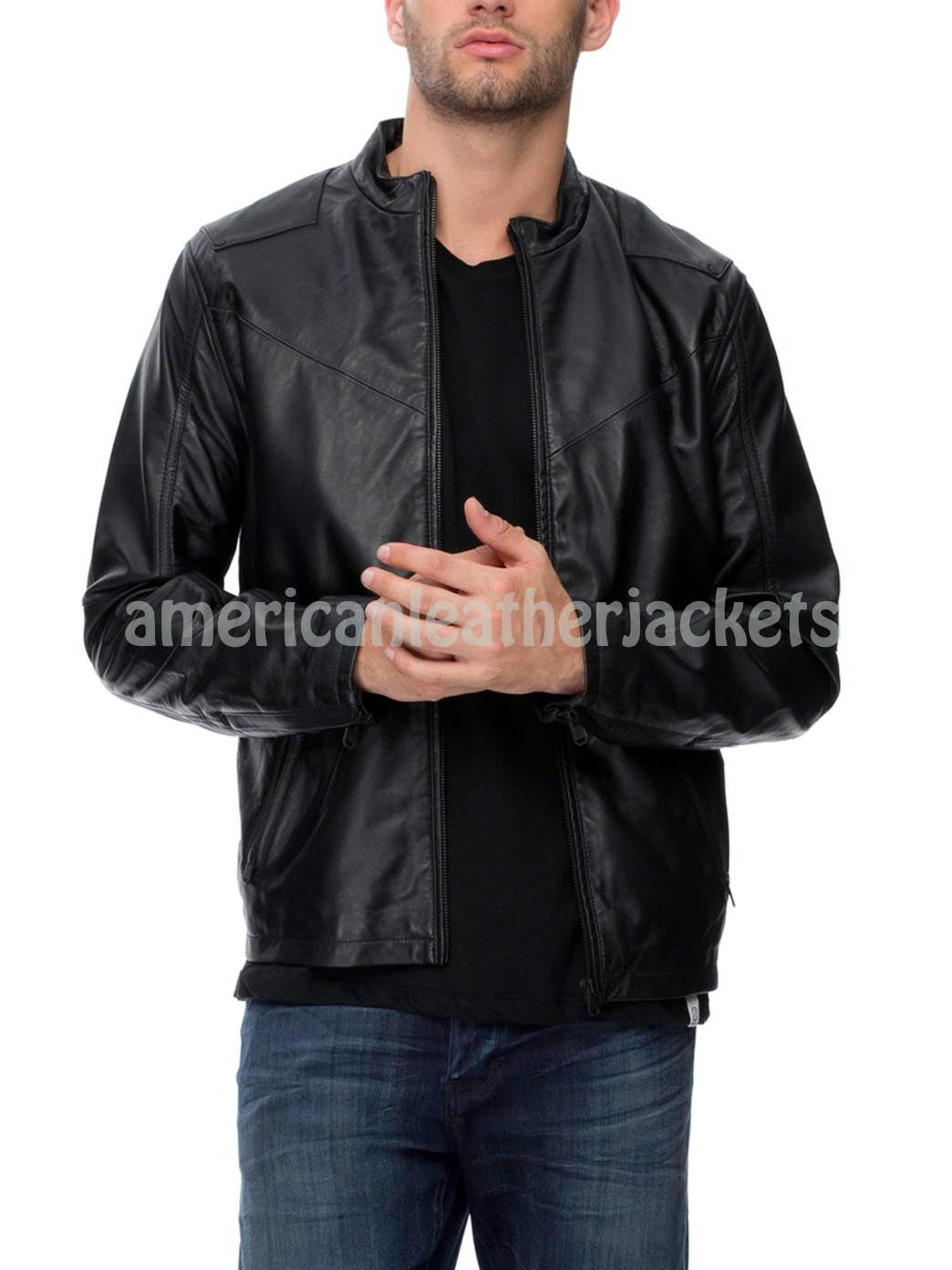 Trendy Elegant Men Leather Jacket
