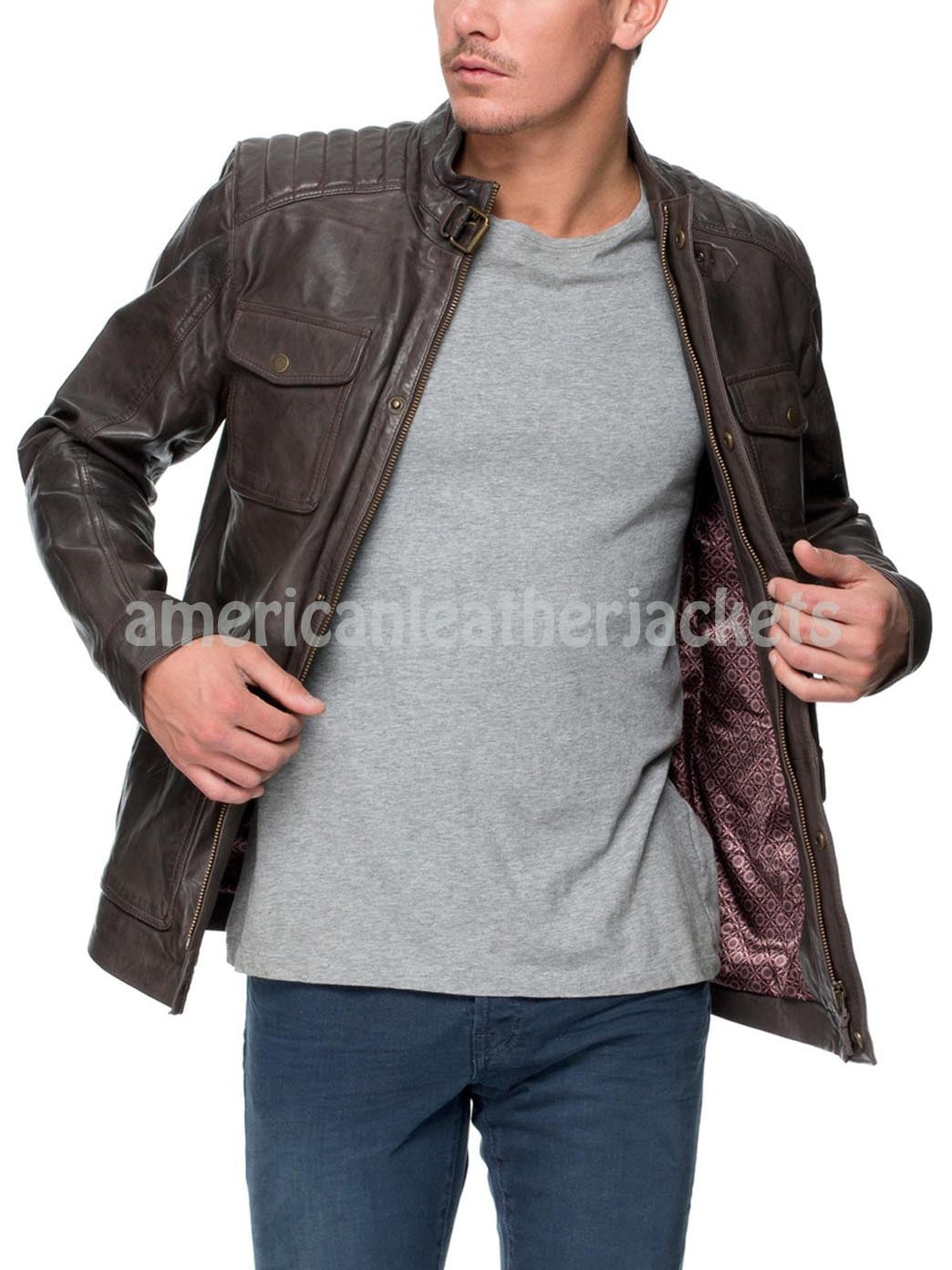 Corporate Style Men Leather Jacket