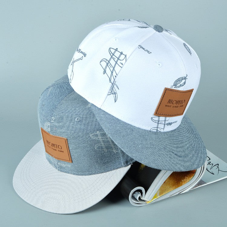Denim Graffiti Baseball Caps
