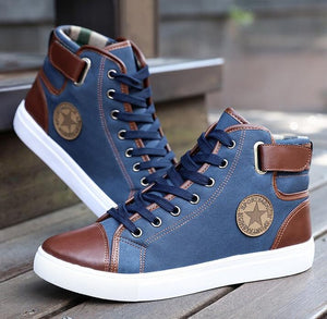 High Top Canvas Shoes for Men