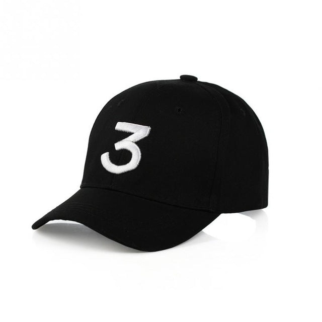 Number 3 Adjustable Baseball Caps