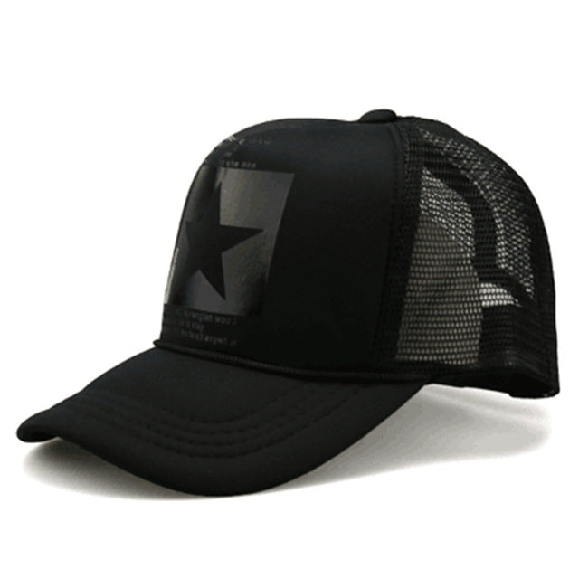 Star Outdoor Baseball Breathable Mesh Cap