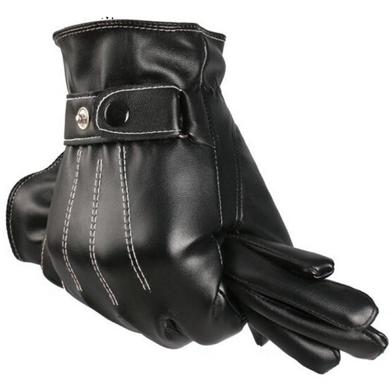 Classic Winter Leather Gloves