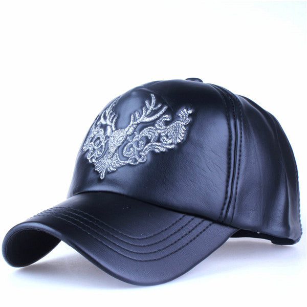 High Quality Faux Leather Cap