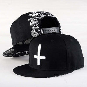 3 Eye Cat Cross Flat Caps