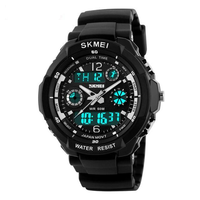 LED Men Sports Military Waterproof Wristwatch