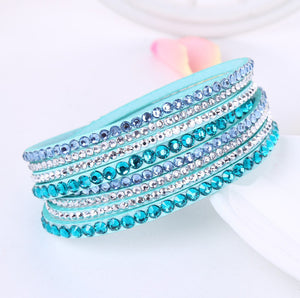 Rhinestone Crystal Wrap Multi-layer Bracelets