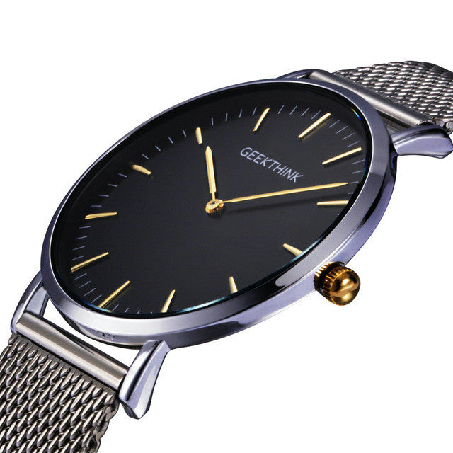 Mesh Strap Ultra Thin Wrist Watch