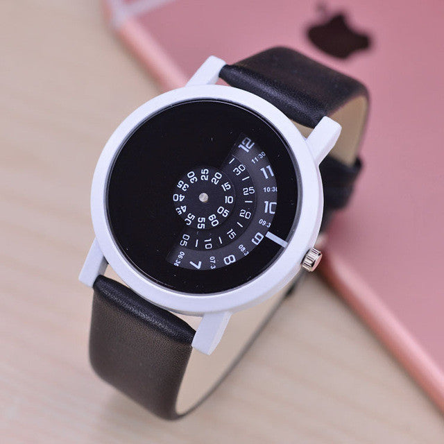 Creative Design Digital Disc Hand Wrist Watch