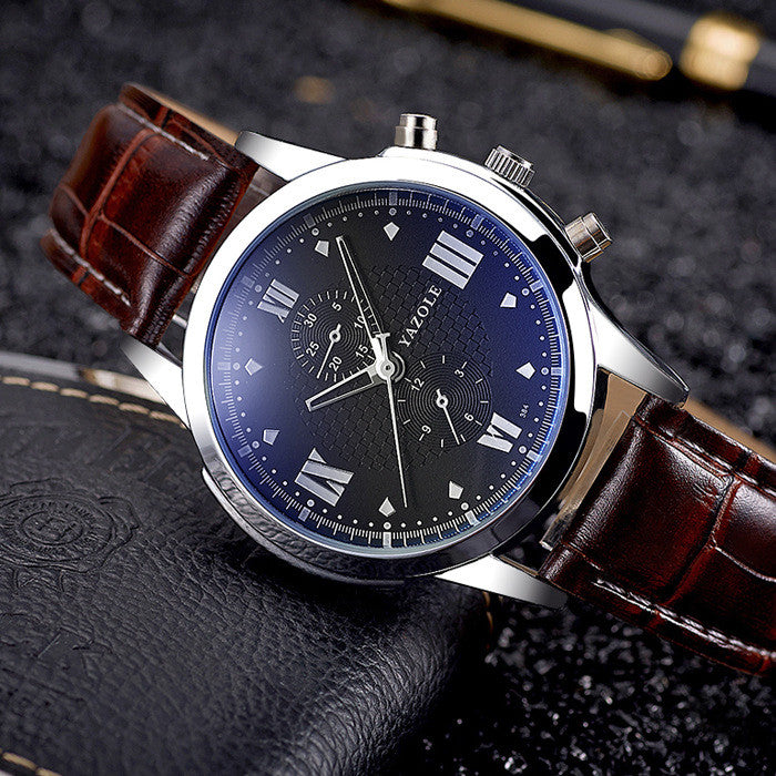 Leather Wristwatch for Men and Women