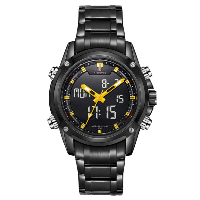 Analog LED Sports Military Watch for Men