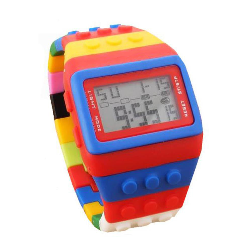 LED Digital Rainbow Water Resistant Wristwatch