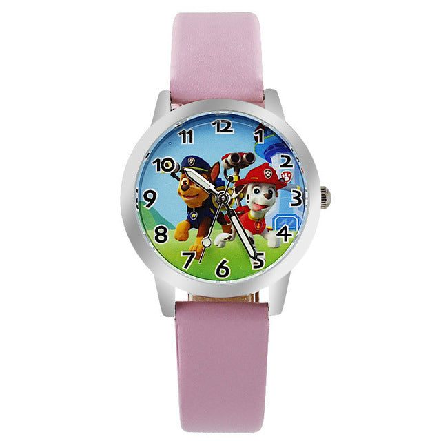 Cartoon Leather Strap Wristwatch for Children