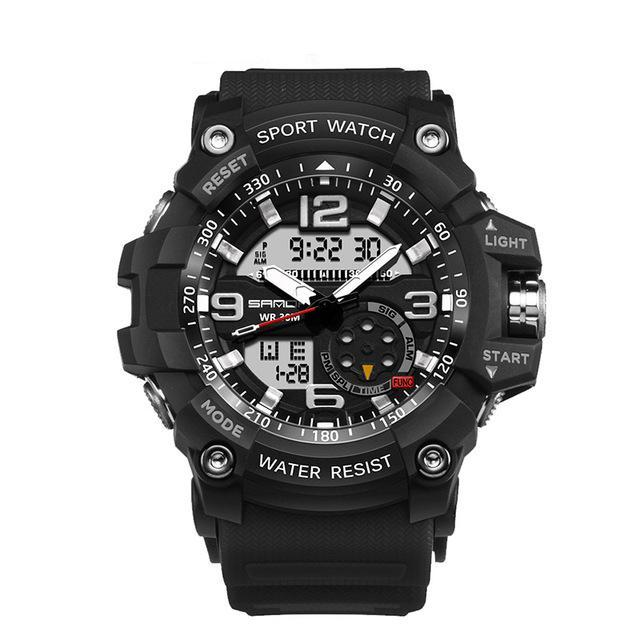 Dual Display Waterproof LED Sports Military Watches