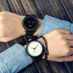 Analog PU Leather Strap Watches for Couple