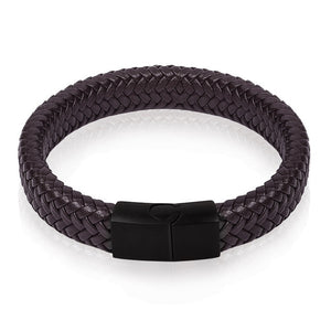 Punk Braided Leather Bracelet