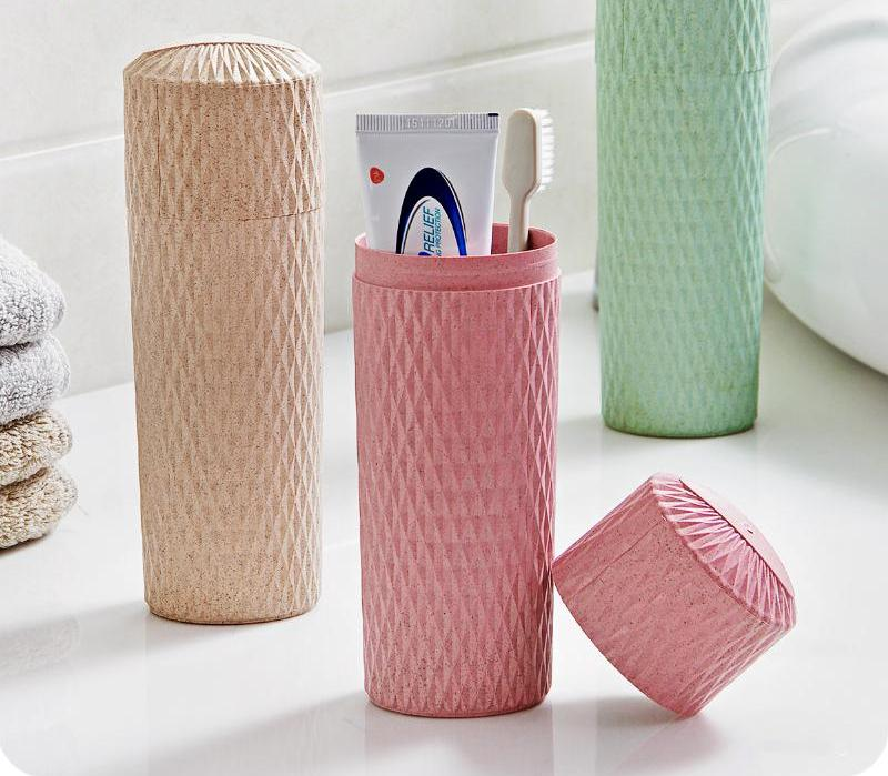 Portable Toothbrush Storage Holder with Mug