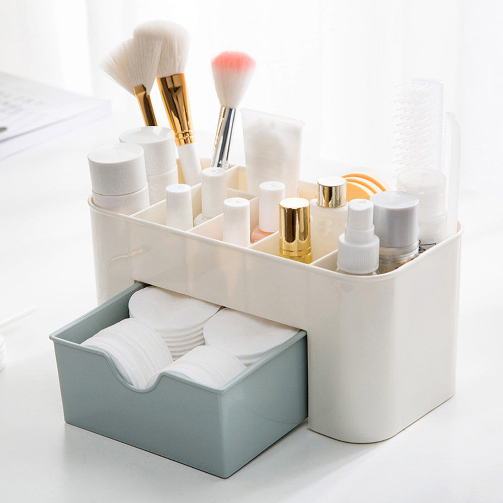 Saving Space Cosmetics Storage with Drawer