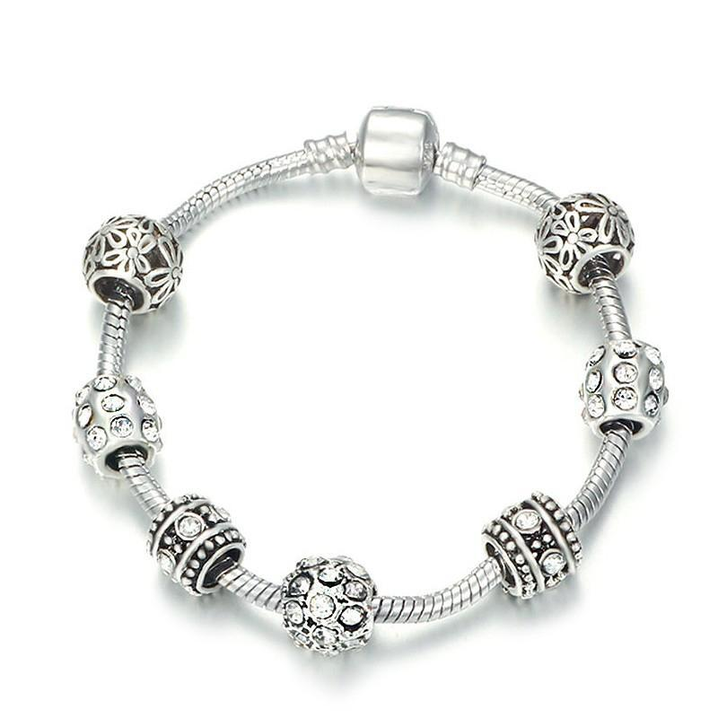 Zircon Pandora Charm Bracelet for Women