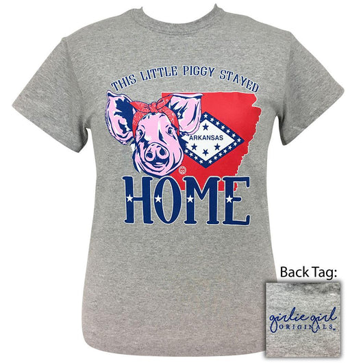 Piggy Home Arkansas Sports Grey-2041 Short Sleeve