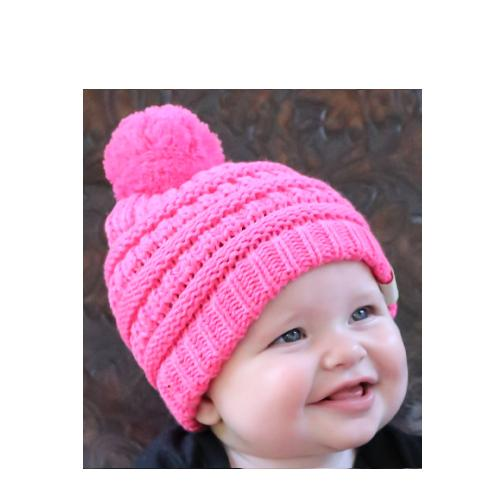 Baby-847 Beanie New Candy Pink