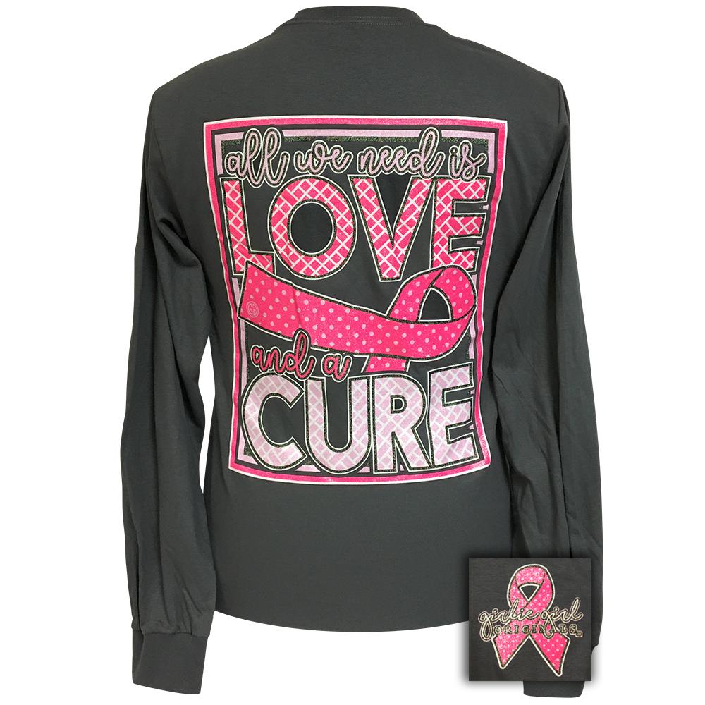 All We Need-Cure Charcoal Gray Long Sleeve