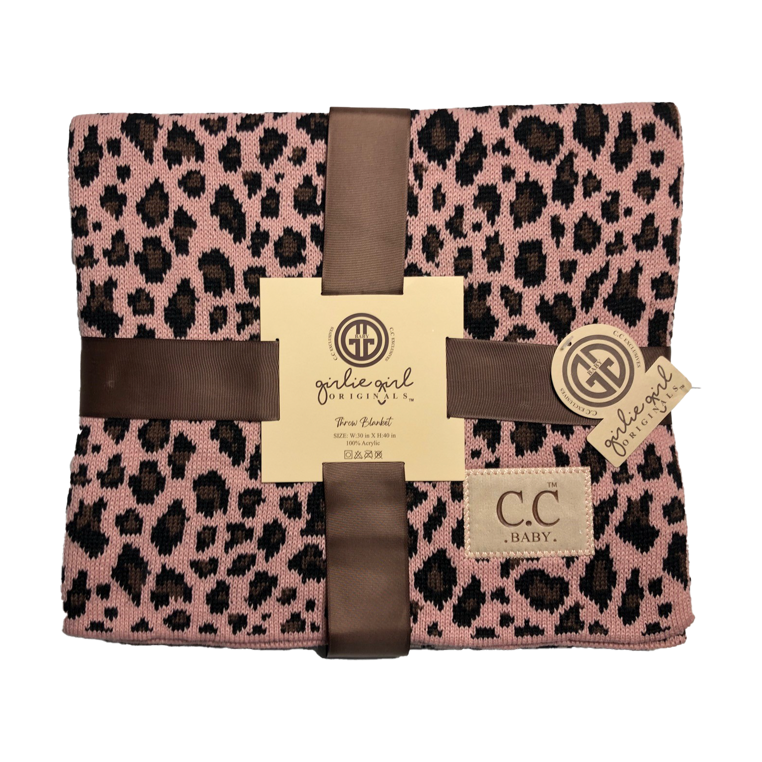 BBL-80 Leopard Baby Blanket Indi Pink