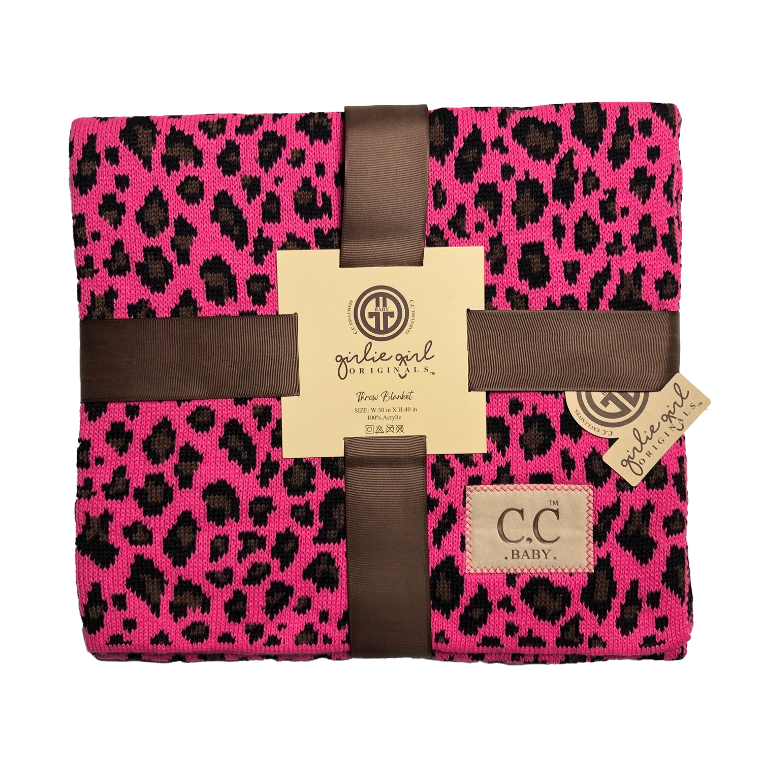 BBL-80 Leopard Baby Blanket New Candy Pink