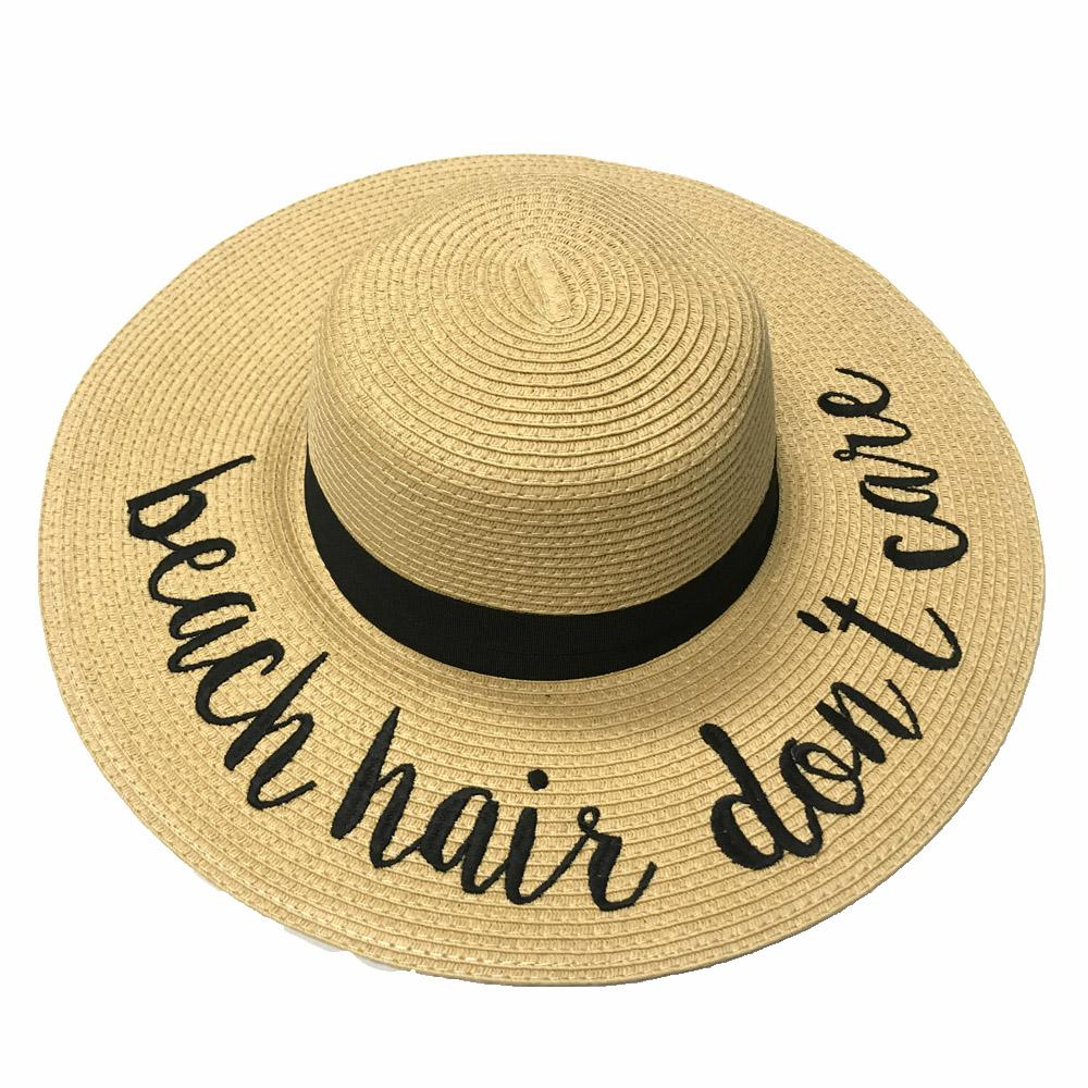 ST-2017 Beach Hair Don't Care Beach Hat