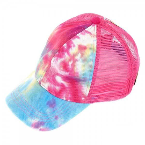 BT-2164 C.C Pony Caps Hot Pink Tie Dye