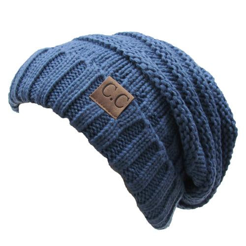 CC-100 SLOUCHY BEANIE DARK DENIM