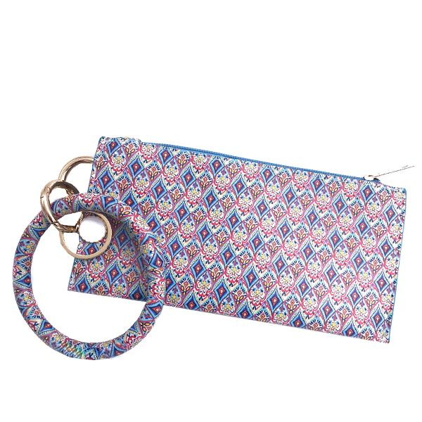 CL-8848 Wristlet Blue Multi