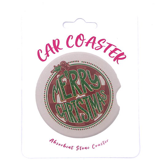 C29 - Car Coaster - Merry Christmas