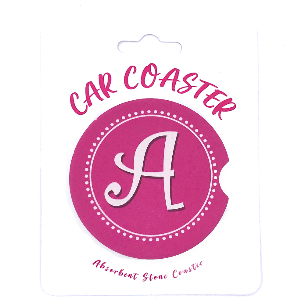 Initials - Car Coaster