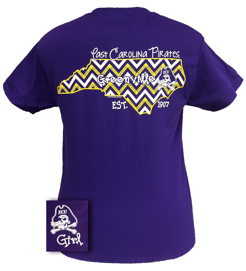 ECU STATE CHEVRON PURPLE