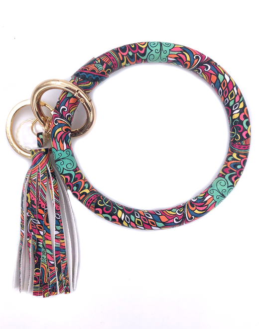 KC-8845 Mint Feather Key Chain