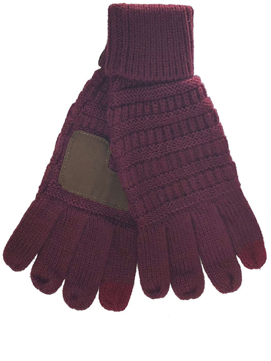 C.C GL-20 Maroon Gloves