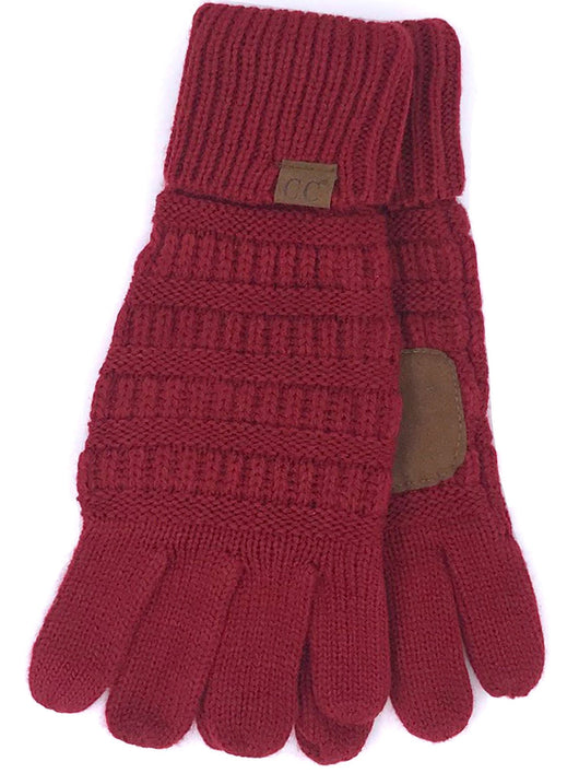 C.C G-20 Burgundy Gloves