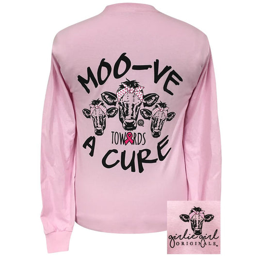 Moo-ve Towards a Cure Light Pink Long Sleeve