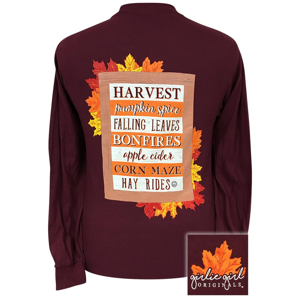 Fall Sign Maroon Longsleeve