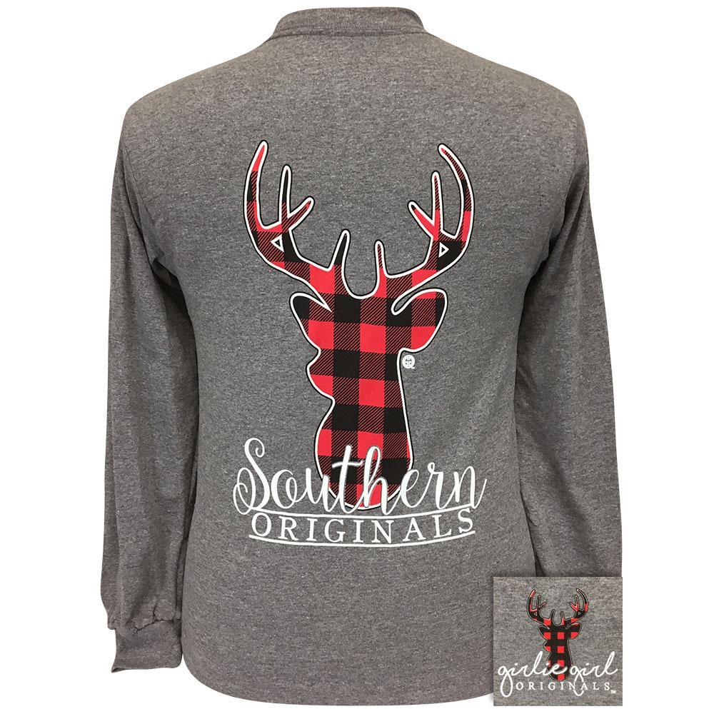 Plaid Deer Graphite Heather LS 1974
