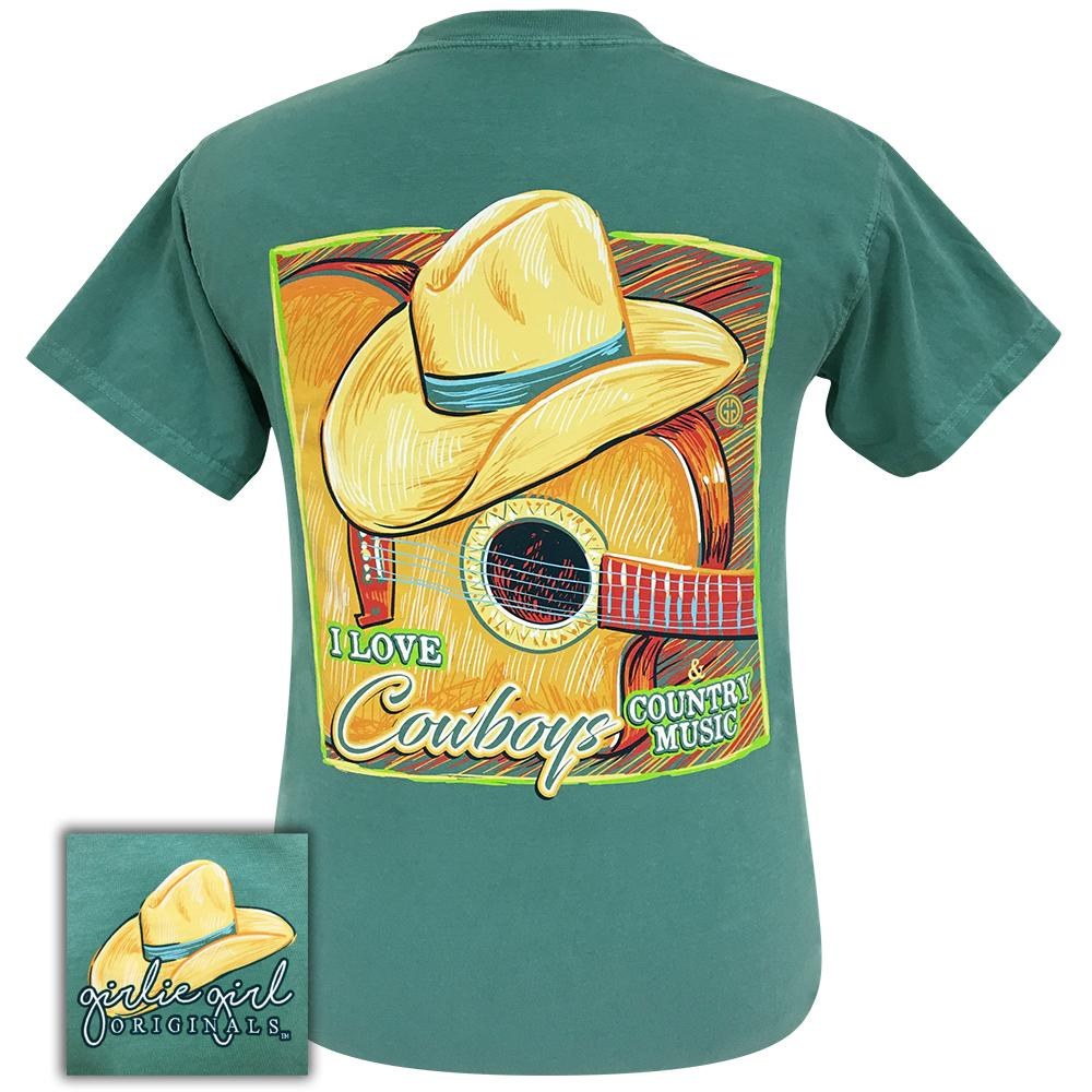 Cowboys and Country Music Comfort Color Seafoam-2061 Short Sleeve